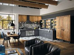 Solid wood fitted kitchen BRERA 76 by Marchi Cucine