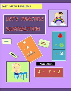 Make math enjoyable with these twelve pages of absolute fun!  Thanks to the  bright, colorful  pictures used in the worksheets, your pupil/ child will enjoy  practicing counting and subtracting..   This product includes subtraction activities graded from easy to difficult.  Subtraction with pictures  (numbers 0-10)  Subtraction problems (one-digit numbers , vertical format , no regrouping )  Subtraction problems (one-digit numbers , vertical format , no regrouping )  Subtraction problems…