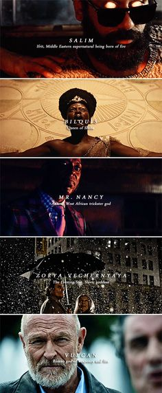 "eggogorgon: ""American Gods ↳ The Old Gods [Pt. How Do You Find, How To Get Away, American Gods, American Horror Story, The Almighty Johnsons, Supernatural Beings, New Gods, Black Sails, Penny Dreadful"