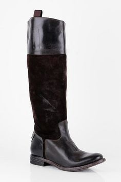 n.d.c. made by hand Gerda Suede Combo Boots in Brown $347 at www.tobi.com