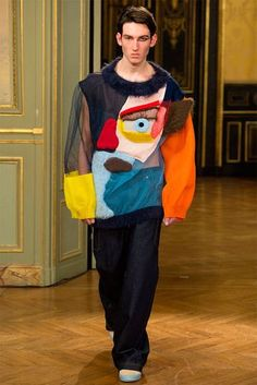 Cubism-Themed Knitwear Collections - This Walter Van Beirendonck Collection Makes a Social Statement (GALLERY)