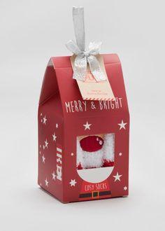 Christmas Slipper Socks In A Box