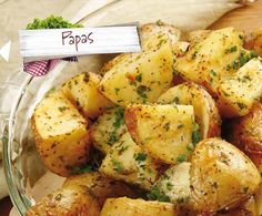 Flavorful roasted potatoes and artichokes are dressed in a parsley and Dijon dressing. A delightful side! Salt And Vinegar Potatoes, Rosemary Roasted Potatoes, Microwave Recipes, Cooking Recipes, Vegan Recipes, Mexican Food Recipes, Dinner Recipes, Ethnic Recipes, Rustic Potatoes