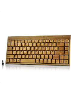 Sourcingbay 100% Bamboo Wireless Handcrafted Keyboard Eco-friendly ❤ China OEM
