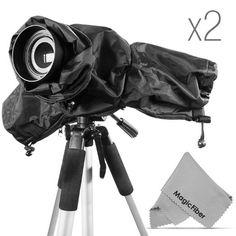 (2 PACK) Altura Photo Professional Rain Cover for DSLR Cameras