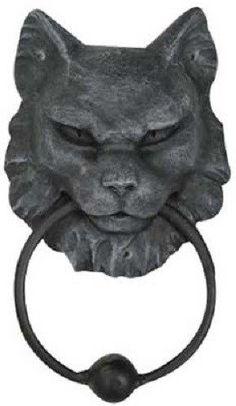 """Cat Gargoyle door knocker 7"""""""