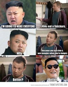 Kim, eat a Snickers…