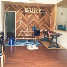 サーファーズハウスと西海岸インテリアのインテリア実例