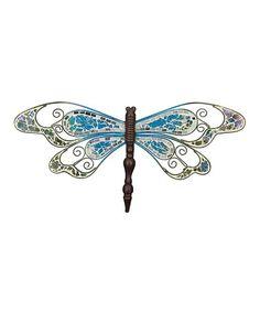 Look at this #zulilyfind! Blue Mosaic Dragonfly Wall Art #zulilyfinds