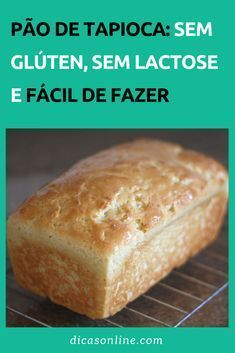 pão de tapioca Lactose Free, Zero Lactose, Banana Bread Recipes, No Carb Diets, Dairy Free Recipes, Love Food, Food And Drink, Cooking Recipes, Pizza Recipes