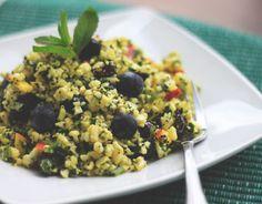 "Cauliflower ""couscous"" salad... This blog has some amazing inspiration."