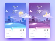 "Weather app inspiration - - via Muzli design inspiration. ""Weather app inspiration"" is published by Muzli in Muzli - Design Inspiration. Dashboard Design, App Ui Design, Interface Design, Flat Design, Dashboard App, Android Design, Android Ui, Design Page, Design Blog"