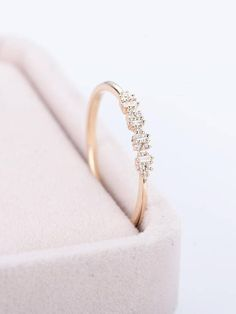 Promise Ring Art Deco Antique Unique Stacking Gold Wedding Band Diamond Baguette Women Thin Dainty Simple Delicate Anniversary Gift For Herr Her  PRODUCT SPECIFICATIONS Handmade item -Metal Type:Yellow Gold,White Gold,Rose Gold,(14K or 18K) Nickel Free -100% Natural, Real high Quality
