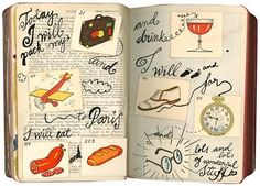 »Dear Diary«; a project I did some time ago: A year of spontaneous doodles in an old Rome Baedeker from 1908.