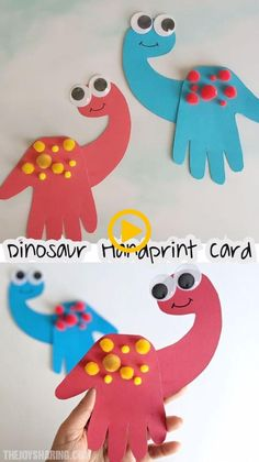 Dinosaur handprint card rainbow crafts st patricks day crafts for kids toddler crafts march crafts arts and crafts for kids crafts for kids a roll of toilet paper + soap + water best sensory experience ever! Daycare Crafts, Baby Crafts, Easter Crafts, Fun Crafts, Decor Crafts, Crafts For Babies, Infant Crafts, March Crafts, Children Crafts
