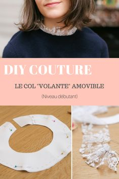 """Caravan 401946335489368288 - DIY couture : le col """"volante"""" amovible Source by carolinedessevr Haute Couture Dresses, Couture Fashion, Diy Fashion, Ideias Fashion, Fashion Top, Sewing Blogs, Sewing Hacks, Sewing Tutorials, Sewing Tips"""
