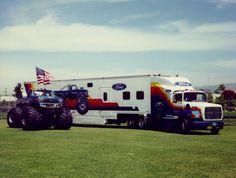 BIGFOOT IV and the BIGFOOT Hauler circa 1989.
