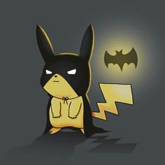 cute pokemon love - Batchu <-- where is the post about pikachu meaning batman or whatever it is when i need it? < pikachu means sparkle mouse in Japanese. Pikachu Pikachu, Pokemon Fan, Pokemon Fusion, Pikachu Funny, Im Batman, Lego Batman, Cute Batman, Nananana Batman, Catch Em All