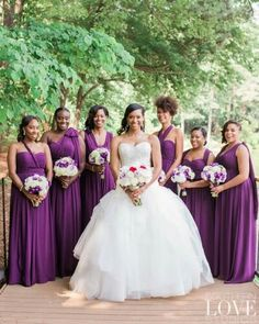 Beautiful bridesmaids dresses!