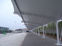 China Car Parking Roof Structure for China Architecture Design and Research Institute supplier Membrane Structure, Roof Structure, Shade Structure, Steel Structure, China Architecture, Architecture Design, Tent Design, Roof Design, House Design