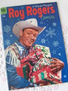 Roy Rogers Christmas comic book cover