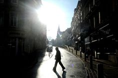 @South Wales Argus PIC OF THE DAY 31.01.14: SEE THE LIGHT: Winter sun illuminates Stow Hill, Newport Pic: MARK LEWIS