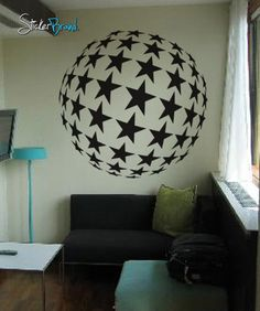 Vinyl Wall Decal Sticker BIG Circle of Stars Disco #257