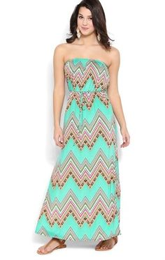 Deb Shops Strapless #Maxi #Dress with Boho Tribal Pattern and Drawstring Waist $35.00 find more women fashion on www.misspool.com