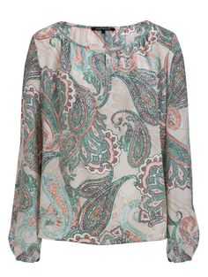 Paisley 100% silk blouse