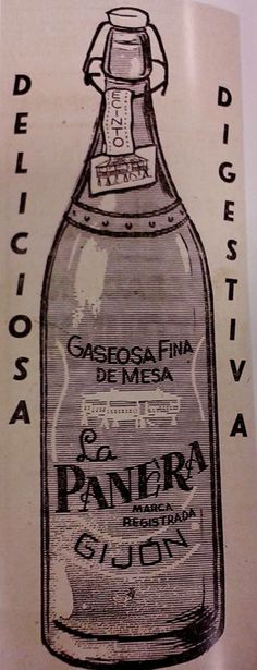 Anuncio de 1958 de LA PANERA, gaseosa fabricada en Gijón
