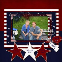 Kristen and Erik: 4th of July Scrapbook Pages