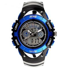 ALPS Kids Watches LED Digital Boys Girls Waterproof Watches Blue * Be sure to check out this awesome product. (Note:Amazon affiliate link)