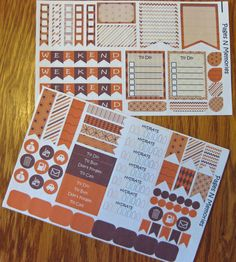 October Monthly Planner Stickers for Erin by PagesNMemories