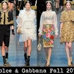 Red Carpet Fashion Awards: Front Row @ Dolce & Gabbana Fall 2012