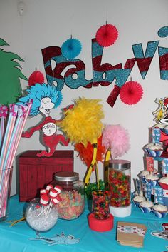 Dr. Seuss Baby Shower Party Ideas | Photo 1 of 15 | Catch My Party