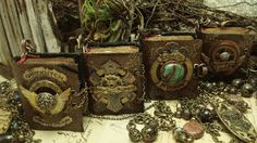 handmade jewelry . handmade books . mixed media jewelry . handmade journals . assemblage art .  polymer clay . wearable books. wearable art . mini books . wearable assemblage . fantasy . magic . elven . Luthien Thye