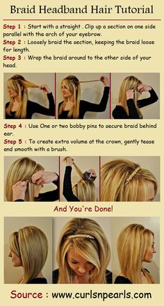 Braid Headband Hair Tutorial | PinTutorials