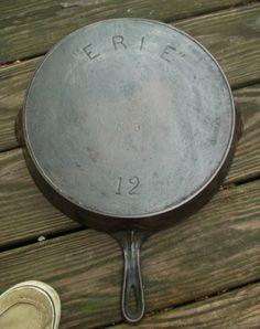 Griswold Erie Cast Iron # 12 Skillet www.wonderfinds.com/item/3_221224448256/c976/Griswold-ERIE
