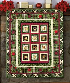 """""""Christmastide"""" by Julie Lynch (from The Quilter Quilting for Christmas Holiday 2012 issue)"""