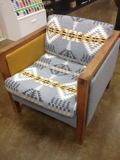 Pendleton reupholstered chair I need two of these and an ottoman in the nook Furniture, Funky Furniture, Cabin Decor, Home Decor, House Interior, Home Deco, Furniture Rehab, Log Furniture, Pinterest Home