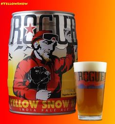 Today is Beer Can Appreciation Day. Celebrate with a Rogue Yellow Snow 5 Liter Can