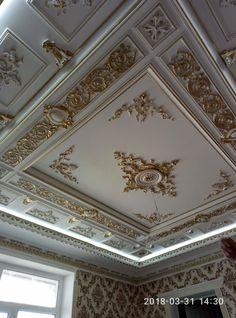 House Paint Design, House Ceiling Design, Ceiling Design Living Room, Ceiling Decor, Pop Design, Wall Design, Plaster Ceiling Design, Gypsum Decoration, Home Entrance Decor