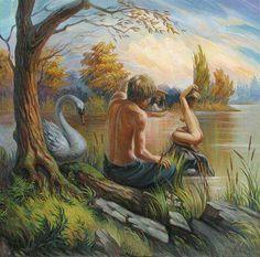 """Украинский художник- иллюзионист Олег Шупляк """"Подглядывающий Фрейд"""""""