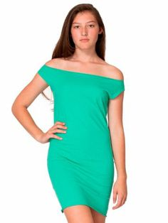 7e1adcbf36e3 American Apparel Fine Jersey T Dress Large Mint T Dress