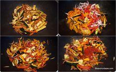 preparare legume chinezesti la wok sau tigaie in ce ordine se pun la prajit Wok, Japchae, Broccoli, Chili, Asia, Ice Cream, Ethnic Recipes, No Churn Ice Cream, Chile