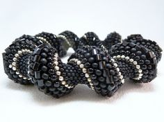 Black is the New Black Cellini Spiral by littlestonedesign on Etsy
