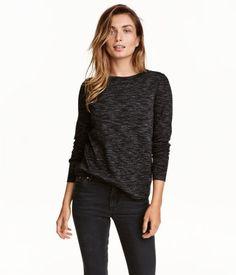 Melert genser   Sortmelert   Dame   H&M NO