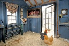 Martha Stewart Pets Chicken Co-Op | Chicken coop with artwork provides the perfect setting for heirloom ...
