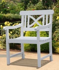 Ideal Outdoor Furniture Vifah V1341 Bradley Outdoor Wood Armchair