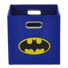 This Batman storage bin is the perfect thing for your little one's playroom. Lightweight and foldable, this bin has a handle for easy use. The Batman logo on the front will always remind you of your kid's favorite superhero.